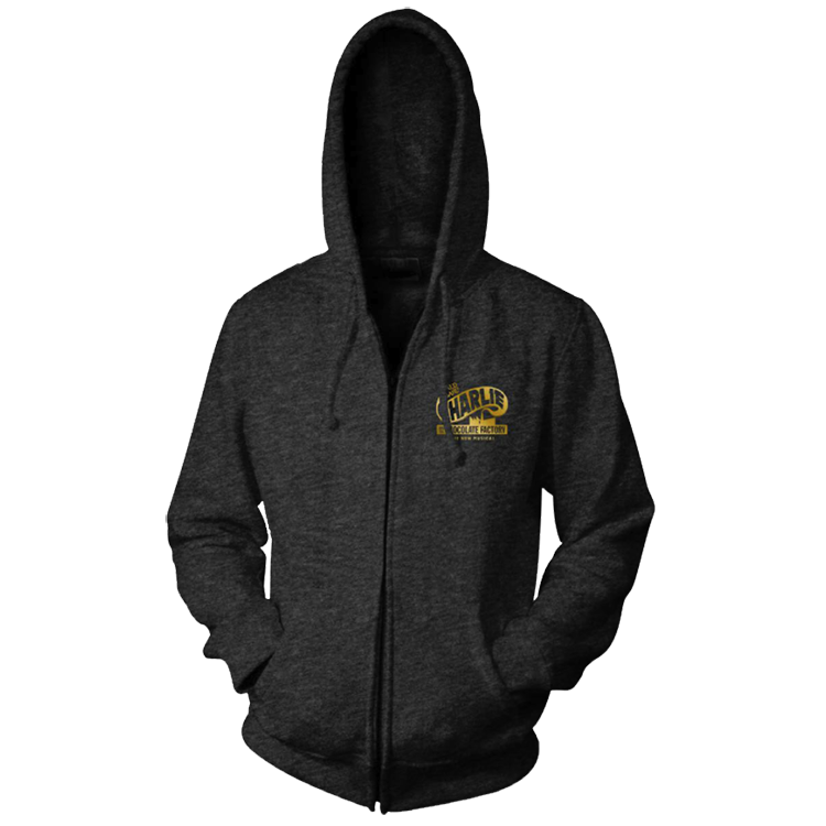 Charlie and the Chocolate Factory Logo Zip Hoodie