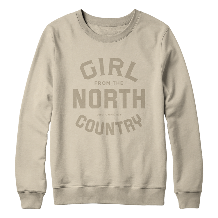 Girl from the North Country Logo Sand Pullover Sweatshirt