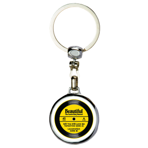 Beautiful Record Spinner Keychain