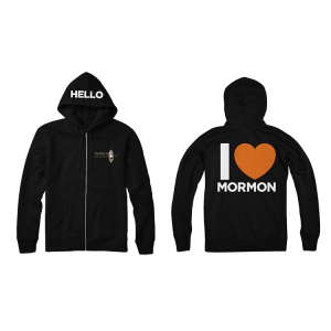 The Book of Mormon I Heart Mormon hoodie