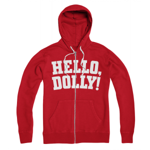 Hello, Dolly! Red Logo Zip Hoodie