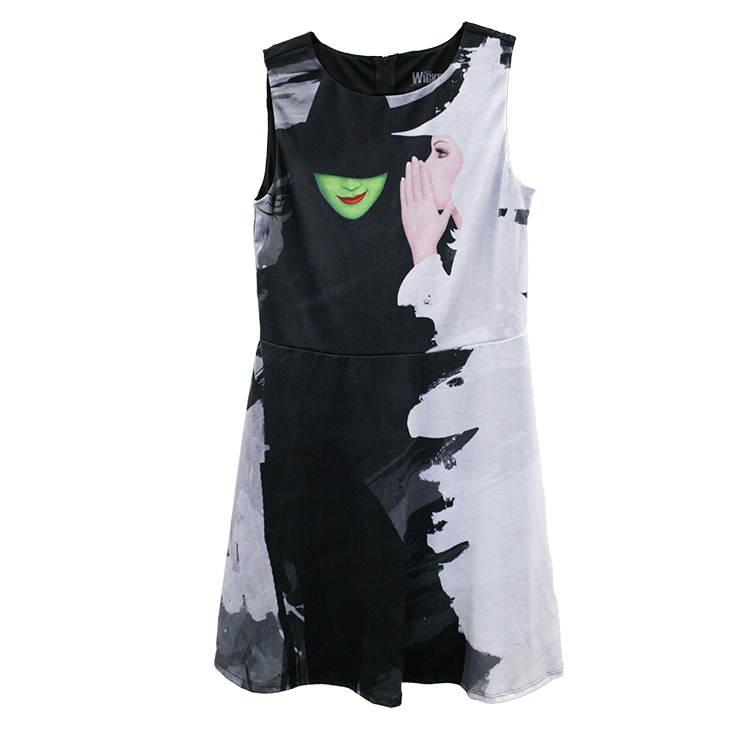 Wicked Painted Two Witches Dress
