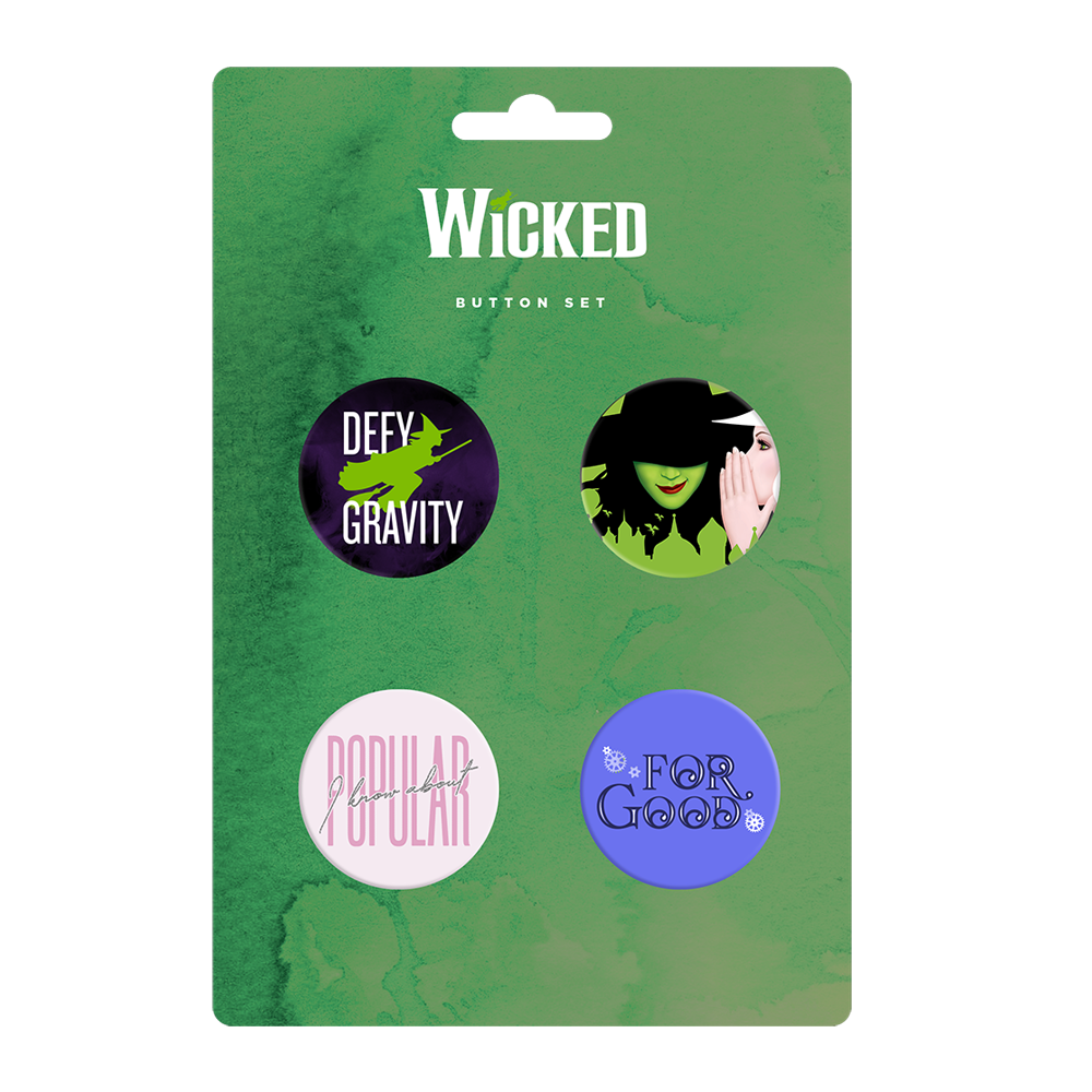 Wicked Song Title Button Set