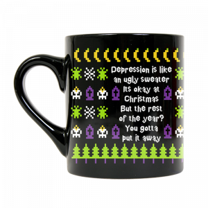Beetlejuice Ugly Sweater Mug