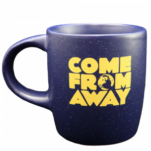 Come From Away Speckled Blue Logo Mug