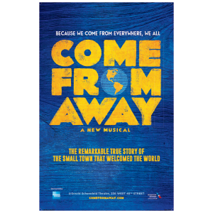 Come From Away Broadway Windowcard