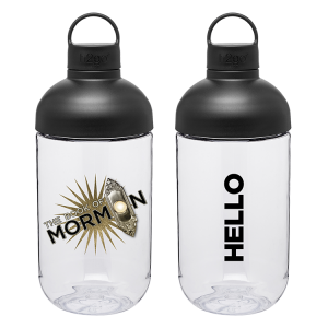 The Book of Mormon Starburst Logo water bottle