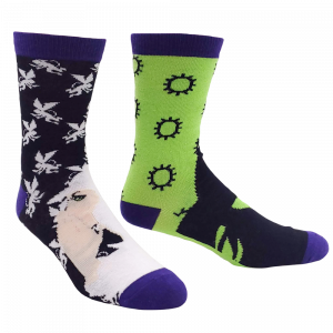 Wicked Two Witch Pattern Socks